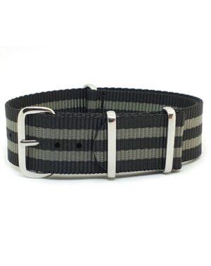 Striped Black & Grey - NATO Watch Strap