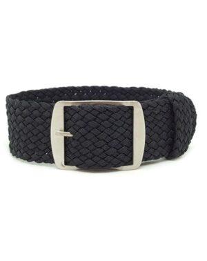 Black Perlon Watch Strap