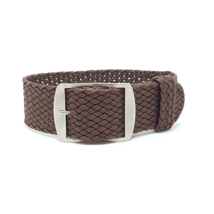 Brown Perlon Watch Strap
