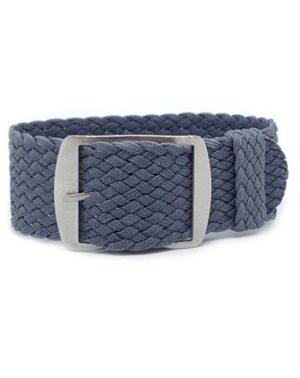 Grey Perlon Watch Strap
