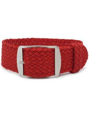 Red Perlon Watch Strap