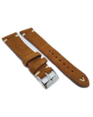 Urban Brown Suede Leather Watch Strap