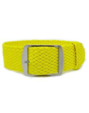 Yellow Perlon Watch Strap