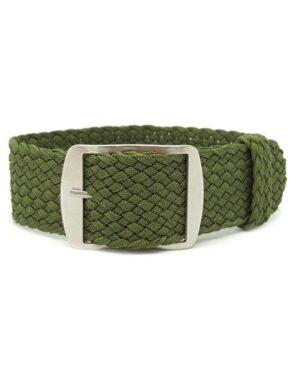 Khaki Green Perlon Watch Strap