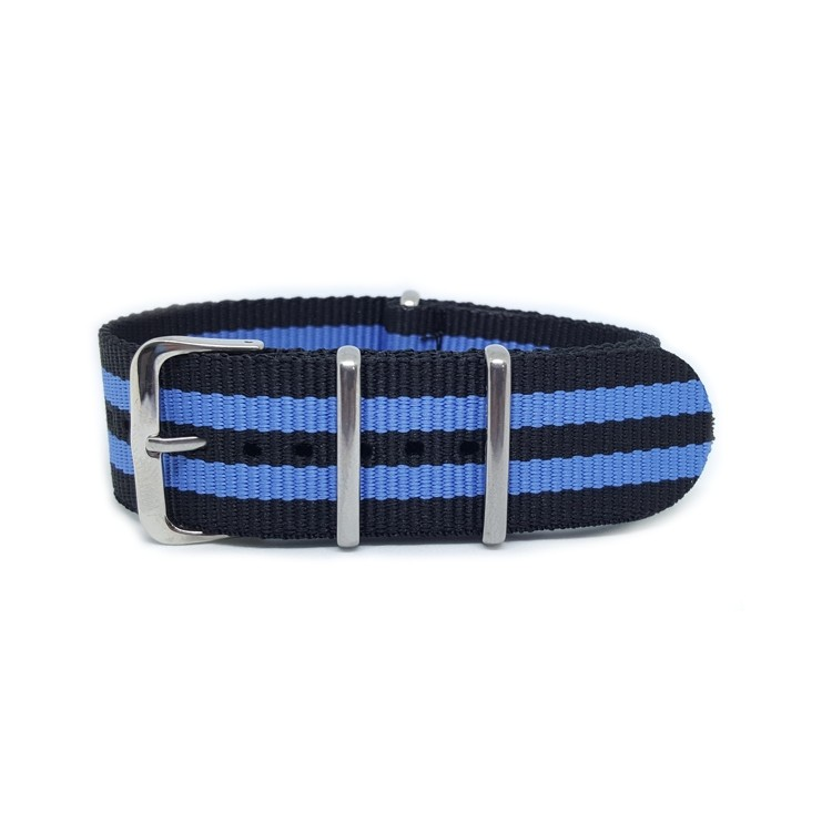 Striped Blue & Black - NATO Watch Strap
