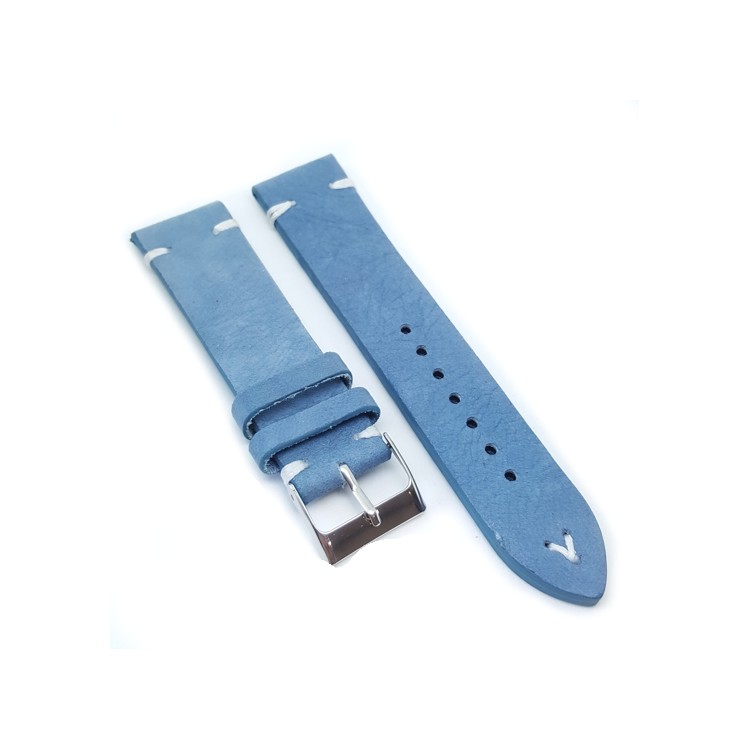 Urban Baby Blue Suede Leather Watch Strap
