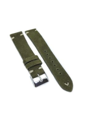 Urban Olive Green Suede Leather Watch Strap