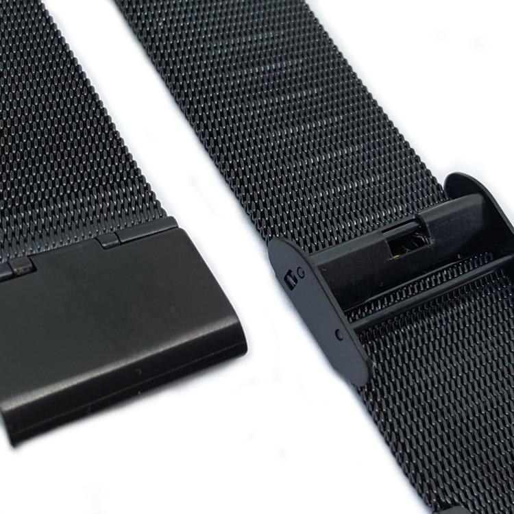 Black Milanese Mesh Watch Strap