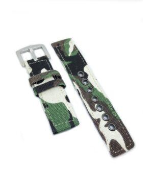 Camo Green Canvas Watch Strap