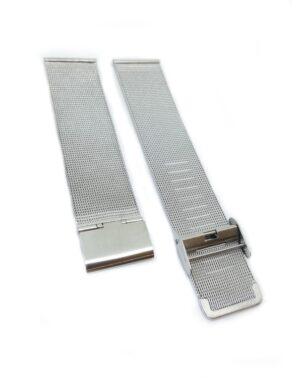 Silver Milanese Mesh Watch Strap
