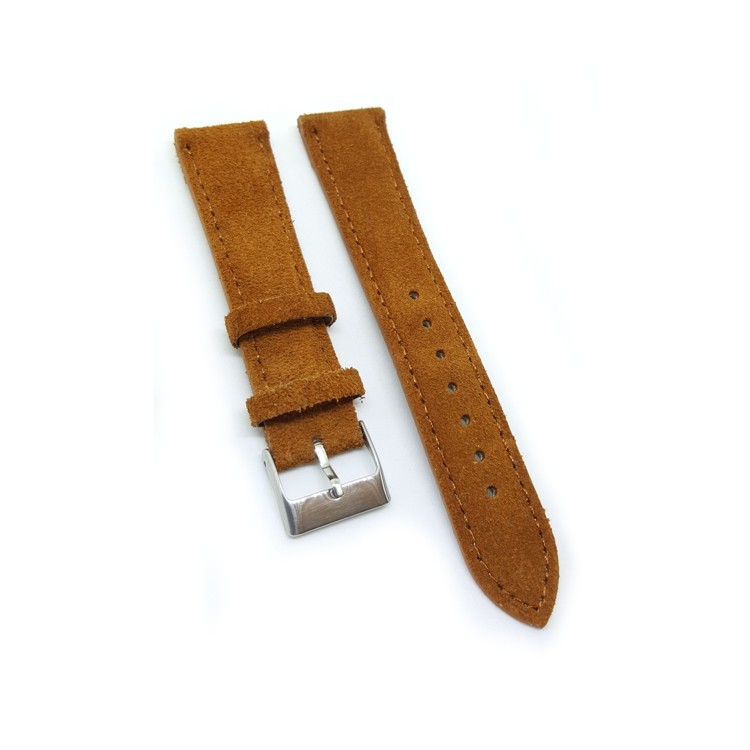 Urban Brown Padded Suede Leather Watch Strap