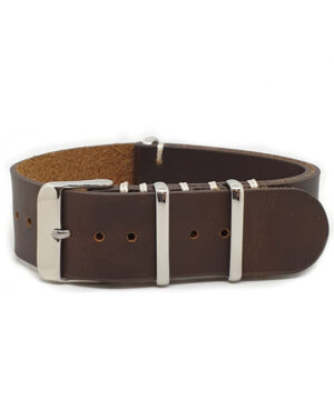 Urban Brown – Vintage Leather NATO Strap