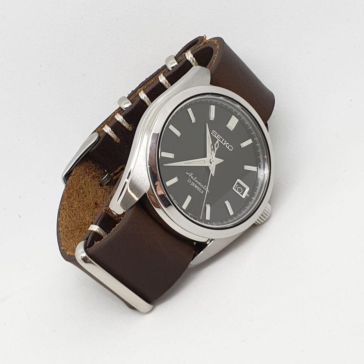 Urban Brown – Vintage Leather NATO Strap SEIKO SARB033
