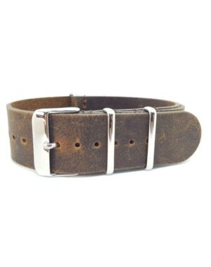 Distressed Brown - Vintage Leather NATO Strap