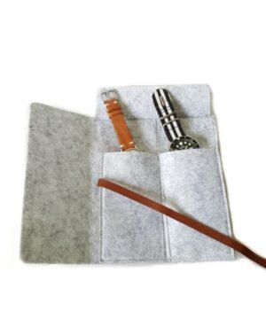 Marble-Grey-Felt-Watch-Roll-Travel-Storage-Case