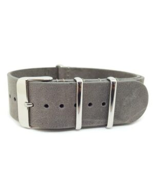 Distressed Grey - Vintage Leather NATO Strap