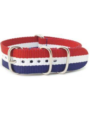Blue, White & Red - Zulu Watch Strap