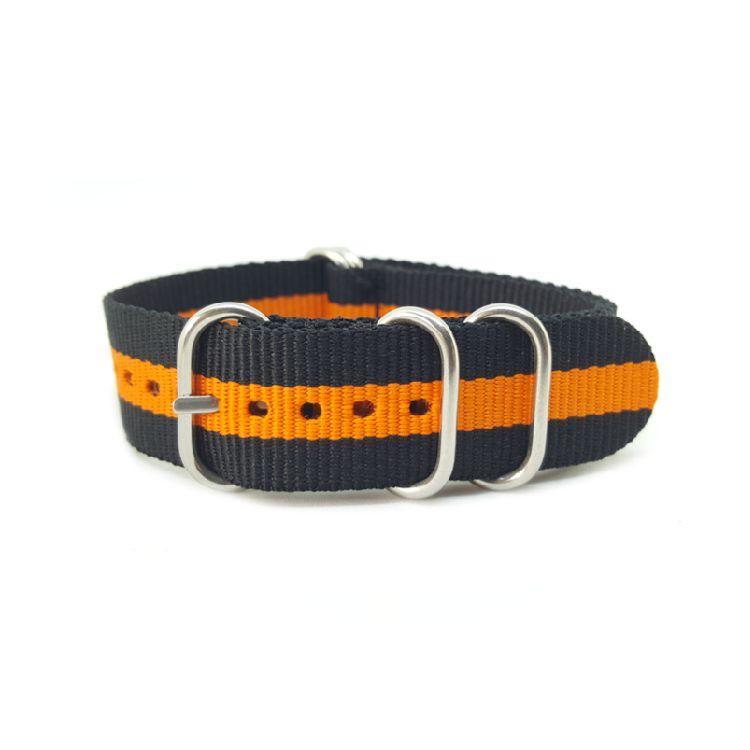 Black & Orange - Zulu Watch Strap