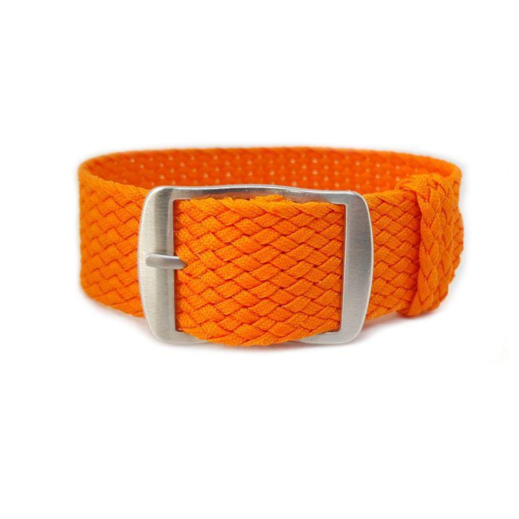 Orange Perlon Watch Strap