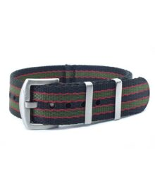 Premium Black Red Green NATO Watch Strap