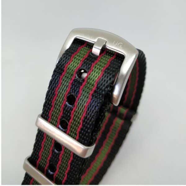 Premium Black Red Green NATO Watch Strap