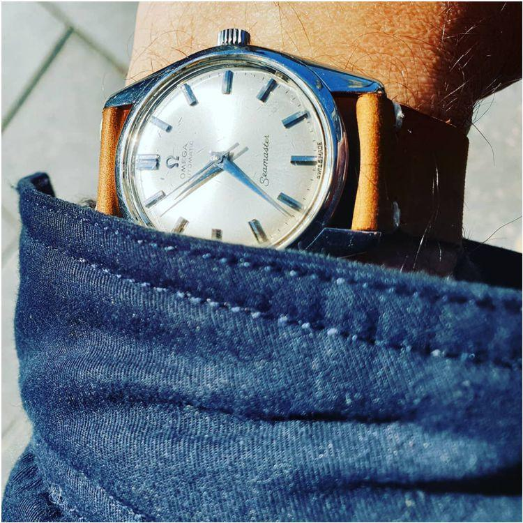 Urban Tan Distressed Leather Vintage Watch Strap