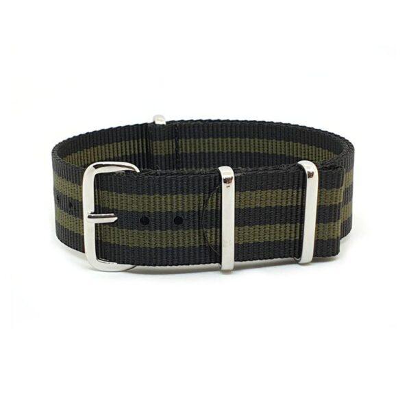 Striped Black & Green - NATO Watch Strap