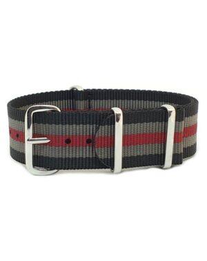 Urban Black, Grey & Red NATO Strap
