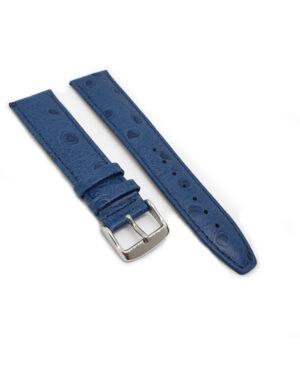 Blue Calf Ostrich Grain Watch Strap