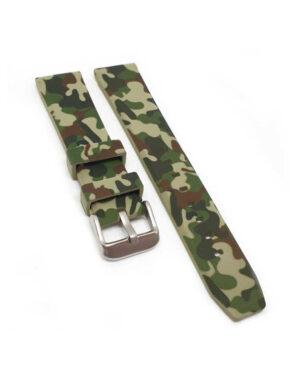 Brown & Green Camo Silicone Watch Strap