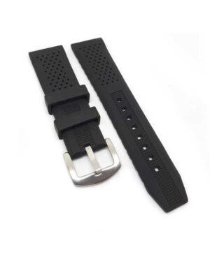 Black Silicone Watch Strap