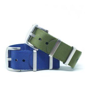 Urban-Di-Lusso-Royal-Blue-Khaki-Green-NATO-Strap-Bundle-Australia