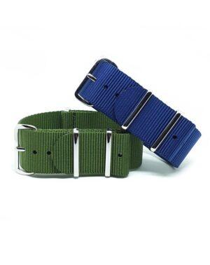 Urban Royal Blue & Khaki Green NATO Strap Bundle