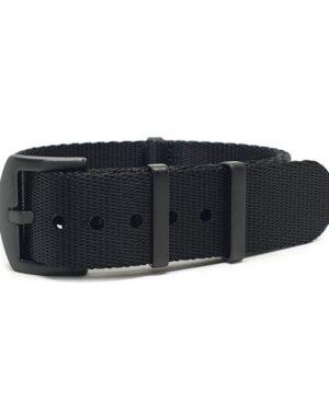 Premium Black Series Black Seatbelt NATO Strap