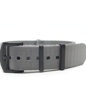 Premium Black Series Grey Seatbelt NATO Strap