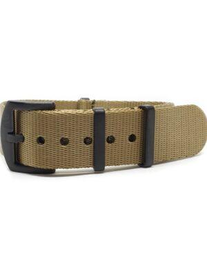 Premium Black Series Khaki Seatbelt NATO Strap
