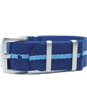 Urban Di Lusso Navy Blue with Ice Blue Stripe NATO Strap