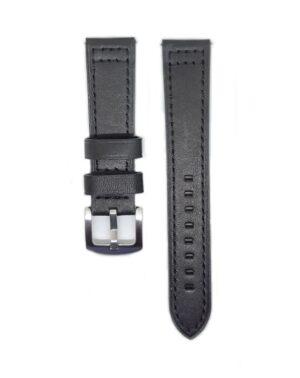 Black Classico Leather Watch Strap