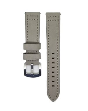 Grey Classico Leather Watch Strap