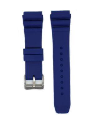 Blue SEIKO Diver 22mm Silicone Watch Strap