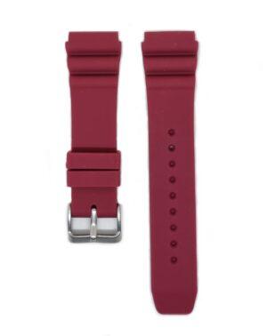 Burgundy SEIKO Diver 22mm Silicone Watch Strap