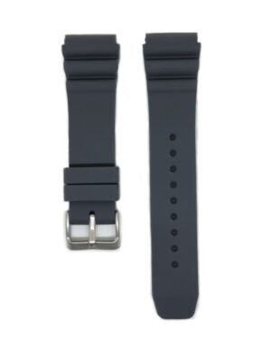 Charcoal SEIKO Diver 22mm Silicone Watch Strap