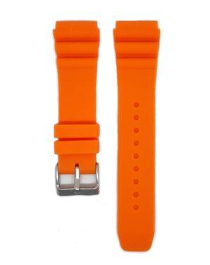 Orange SEIKO Diver 22mm Silicone Watch Strap